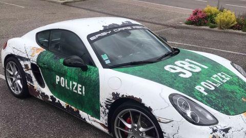 La voiture interceptée par les gendarmes du Bas-Rhin.