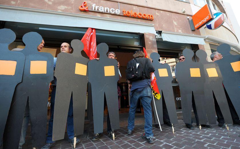 Manifestation des salariés de France Télécom