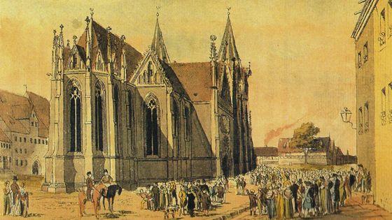 Eglise de Mühlhausen au 18e siècle