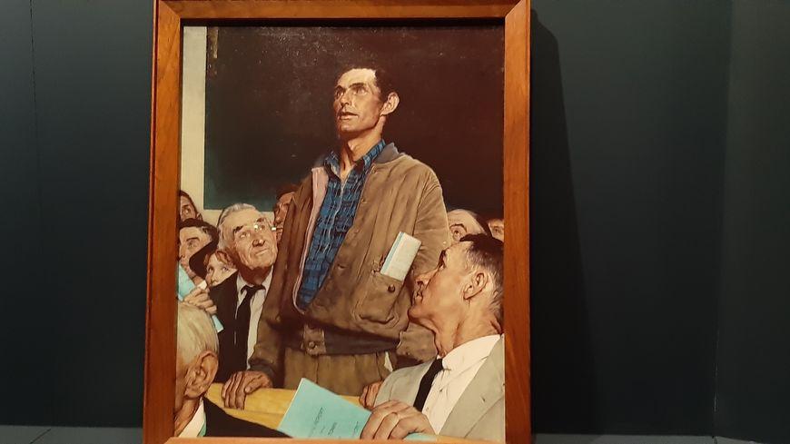 """""""Liberté de parole"""", l'un des tableaux des Quatre libertés immortalisées par Norman Rockwell après le discours de Roosevelt"""