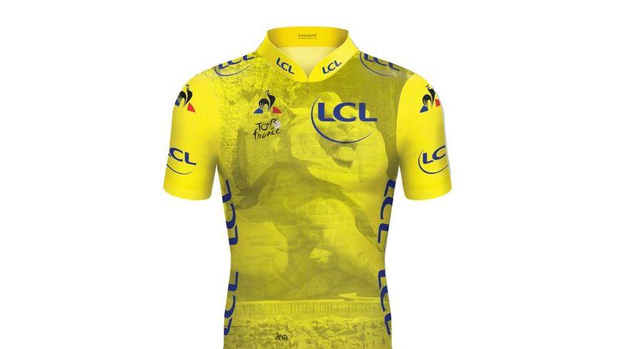 Pour la 7ème étape du Tour, entre Belfort et Châlon-sur-Saône, le maillot sera à l'effigie du Lion de Belfort