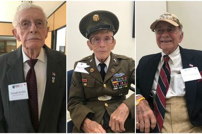 Donald Keller, Floyd Wigfield et Robert Fischman se souviennent du Débarquement en Normandie, il y a 75 ans.