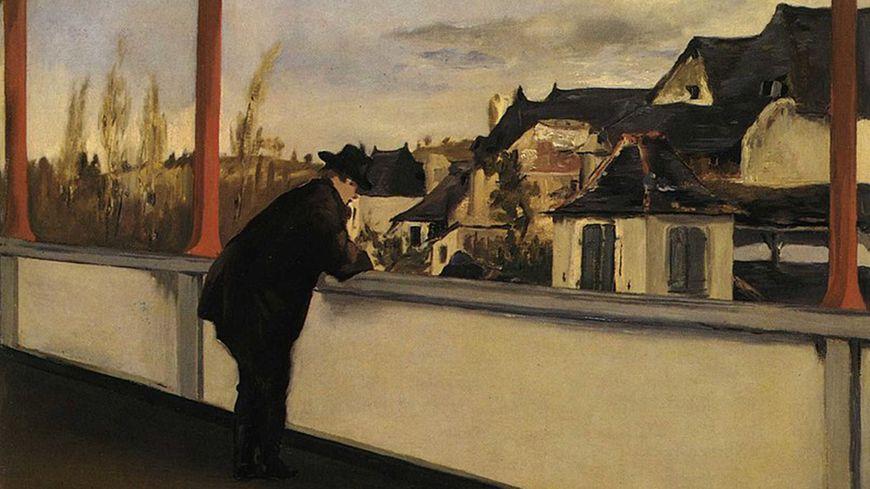 """""""Oloron-Sainte-Marie"""" peint par Edouard Manet depuis la terrasse de l'immeuble Souviron"""