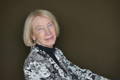 Portrait de l'écrivaine française Chantal Thomas le 14 juin 2013 à Paris.