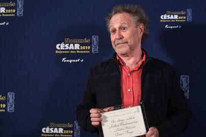 Le réalisateur français Nicolas Philibert à son arrivée pour le déjeuner des candidats Cesar, le 3 février 2019 à Paris.