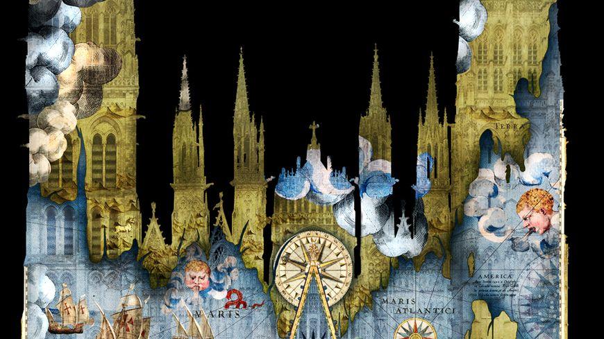 Ces projections sur la Cathédrale  sont réalisées par l'entreprise Cosmo AV