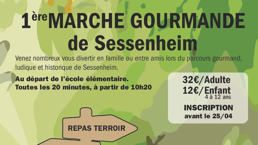Affiche Marche gourmande Sessenheim