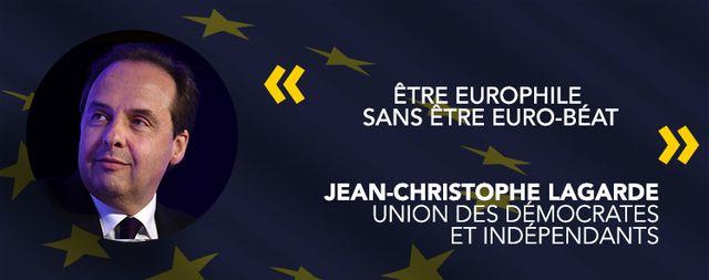 Jean-Christophe Lagarde, tête de liste Union des démocrates et indépendants.