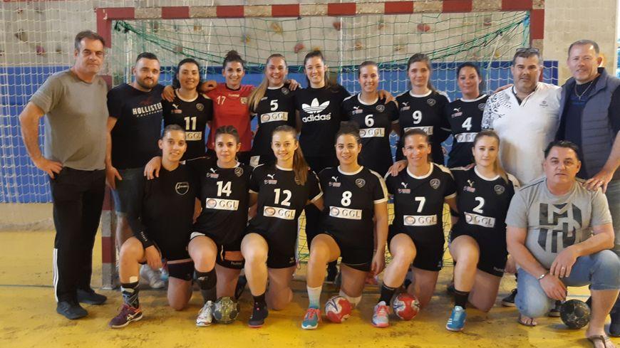 L'équipe féminine de Lattes-Handball qui dispute la finale de la coupe de France départementale