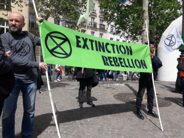 Mouvement Extinction Rébellion France, Paris, avril 2019.