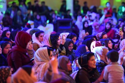 Des femmes afghanes assistent à un concert à Mazar-I-Sharif (10 mars 2019)