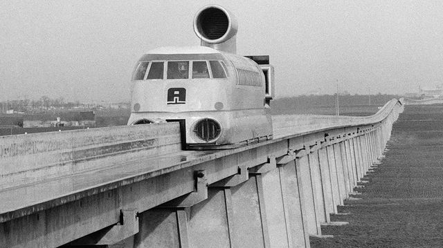 Les tests de l'aérotrain, 1974