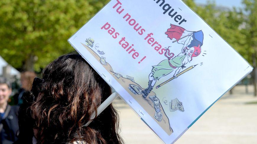 manifestation contre le projet Blanquer