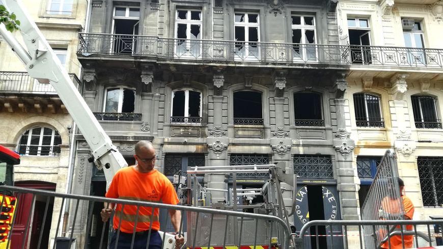 Six immeubles ont été détruits par l'incendie du 25 mai.