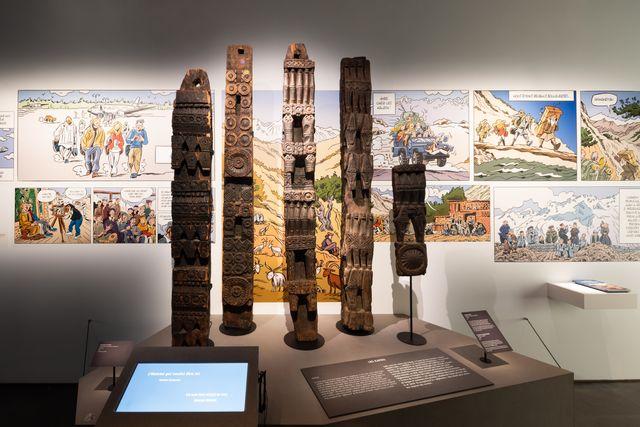 """Exposition """"Fêtes himalayennes, les derniers Kalash"""" au musée des Confluences,"""