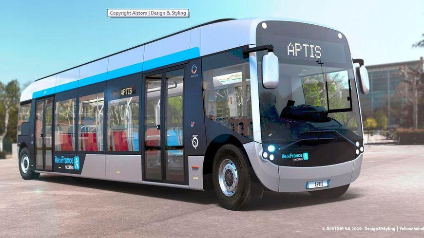 Le futur bus électrique de la RATP à Paris et en Ile de France, baptisé Aptis.