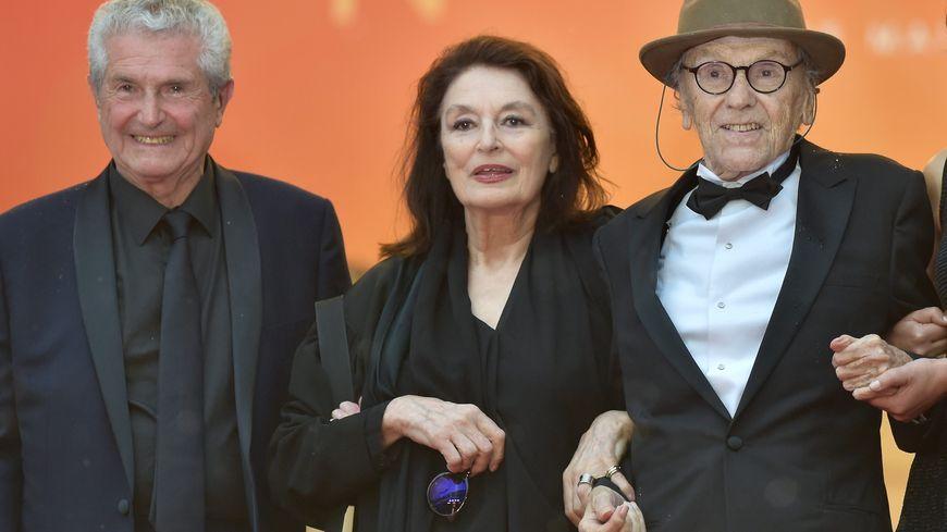 Jean-Louis-Trintignant, Anouk Aimée et Claude Lelouch au Festival de Cannes 2019.