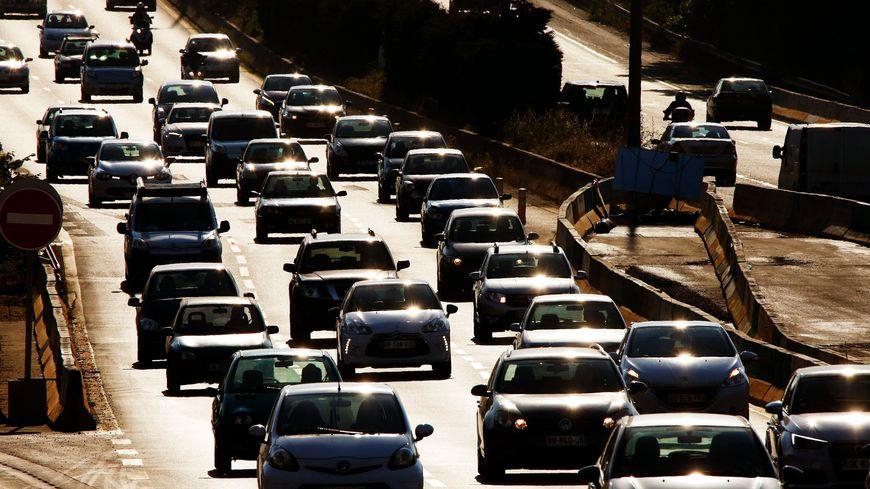 Embouteillages sur la L2 à Marseille