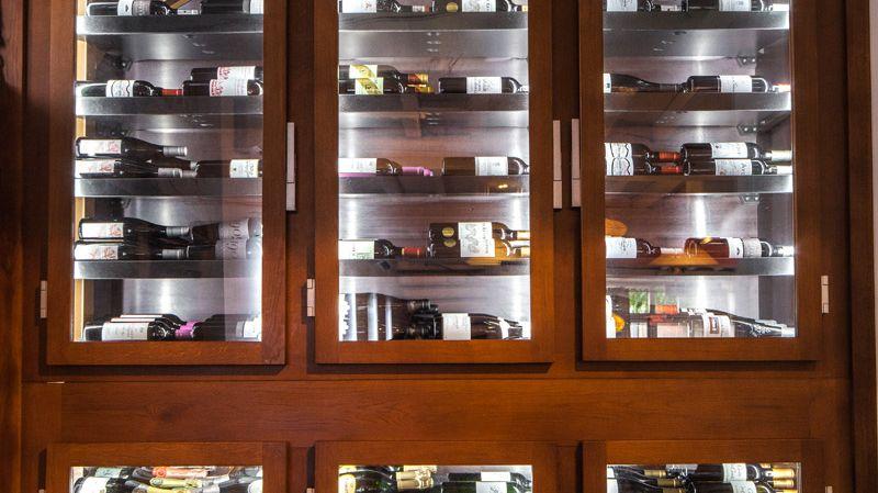 Une cave de choix au restaurant des Voisins