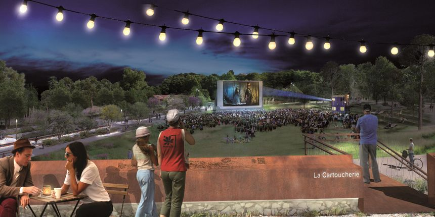 Et si on s'offrait dès avril 2020 des séances de ciné en plein air sur ce campus de l'image à la Cartoucherie ?