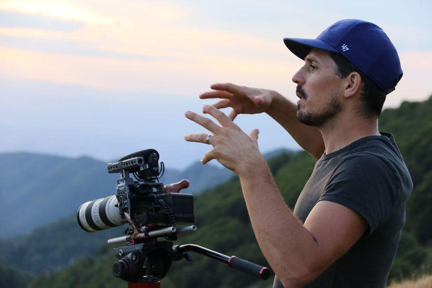 Damien Boyer sur le tournage