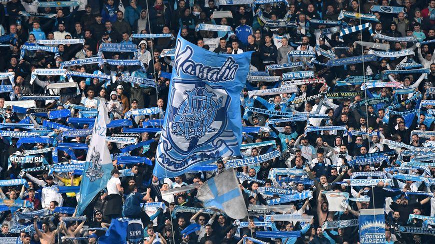 Les supporters de l'Olympique de Marseille.