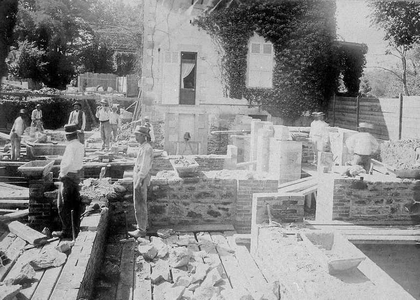 La construction du château de la famille Haviland