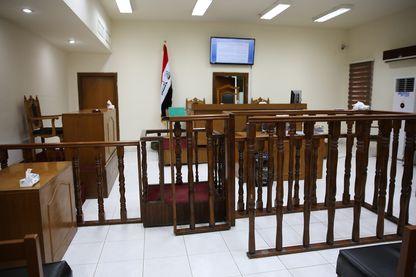 La cour de Bagdad où comparaissent les jihadistes français, juste avant l'audience du 29 mai