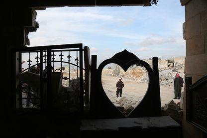 Immeuble en ruines à Damas, en Syrie