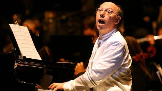Le compositeur Etienne Perruchon à Annecy en 2010, lors du 150e anniversaire du rattachement de la Savoie à la France.
