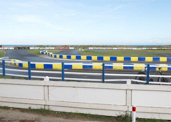 Le karting de Ouistreham a été construit sur des vestiges du mur de l'Atlantique