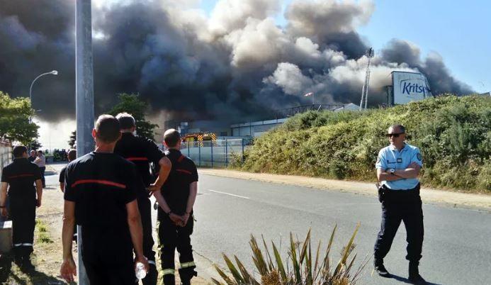 L'incendie avait détruit le site de Landivisiau