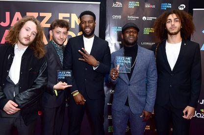 Le groupe Ezra Collective aux Jazz FM Awards le 30 avril 2018 à Londres.