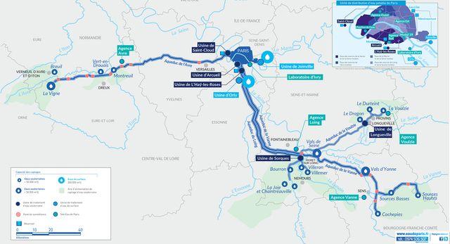 Le réseau d'alimentation d'eau de Paris