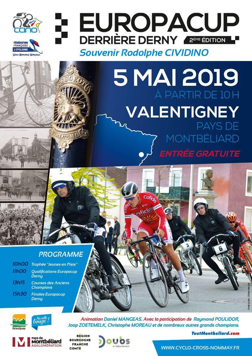 Affiche de la course de Derny de Valentigney