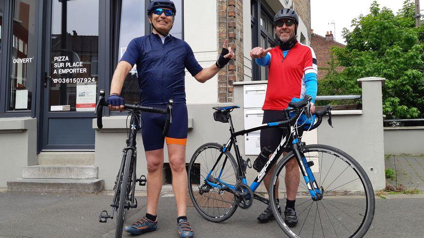 Jean-Philippe Demay, 49 ans et Anthony Guermonprez, 48 ans préparent Lille-Hardelot