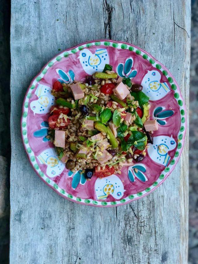 Salade de mortadelle de Bologne IGP et épeautre