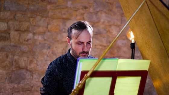 Le claveciniste Bertrand Cuiller, juillet 2018