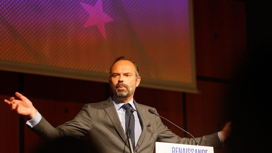 Edouard Philippe, en meeting pour soutenir la liste Renaissance le 17 mai 2019 à Toulon