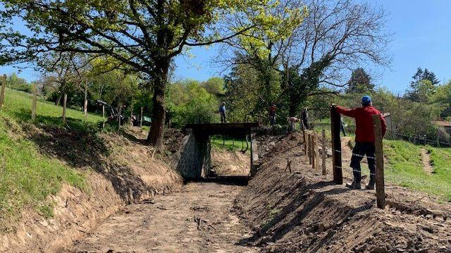 Le sentier du  monorail a été totalement réhabilité sur plus d'un kilomètre à Cottance.