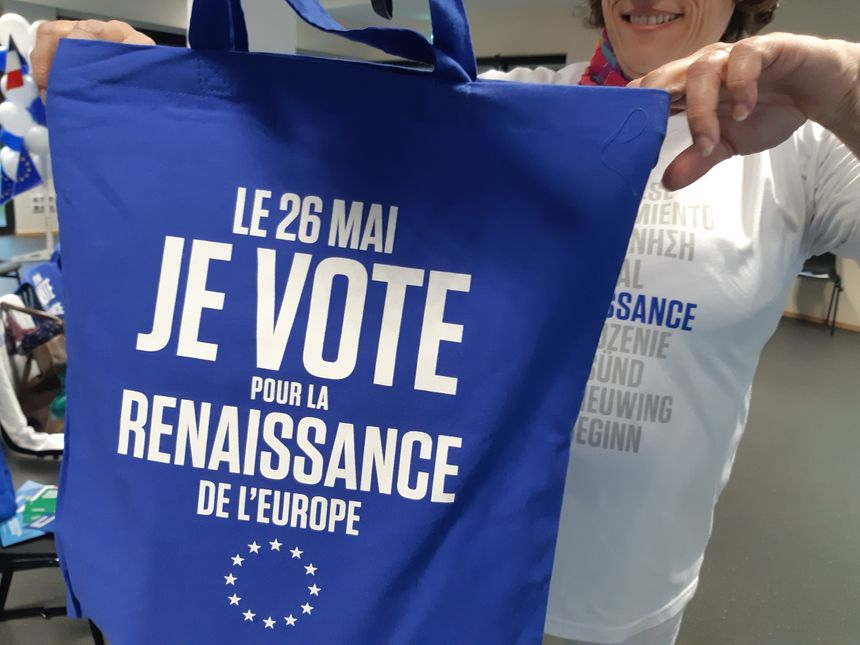 Le matériel de campagne de La République en marche pour les Européennes
