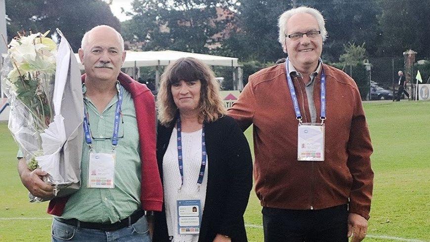 Philippe Oyhamberry (à gauche sur la photo) démissionne de son poste de président du Stade Montois Football