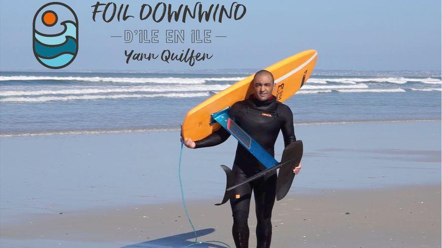 Yann Quilfen prévoit de joindre les Glénan à Belle île en stand-up paddle à foil