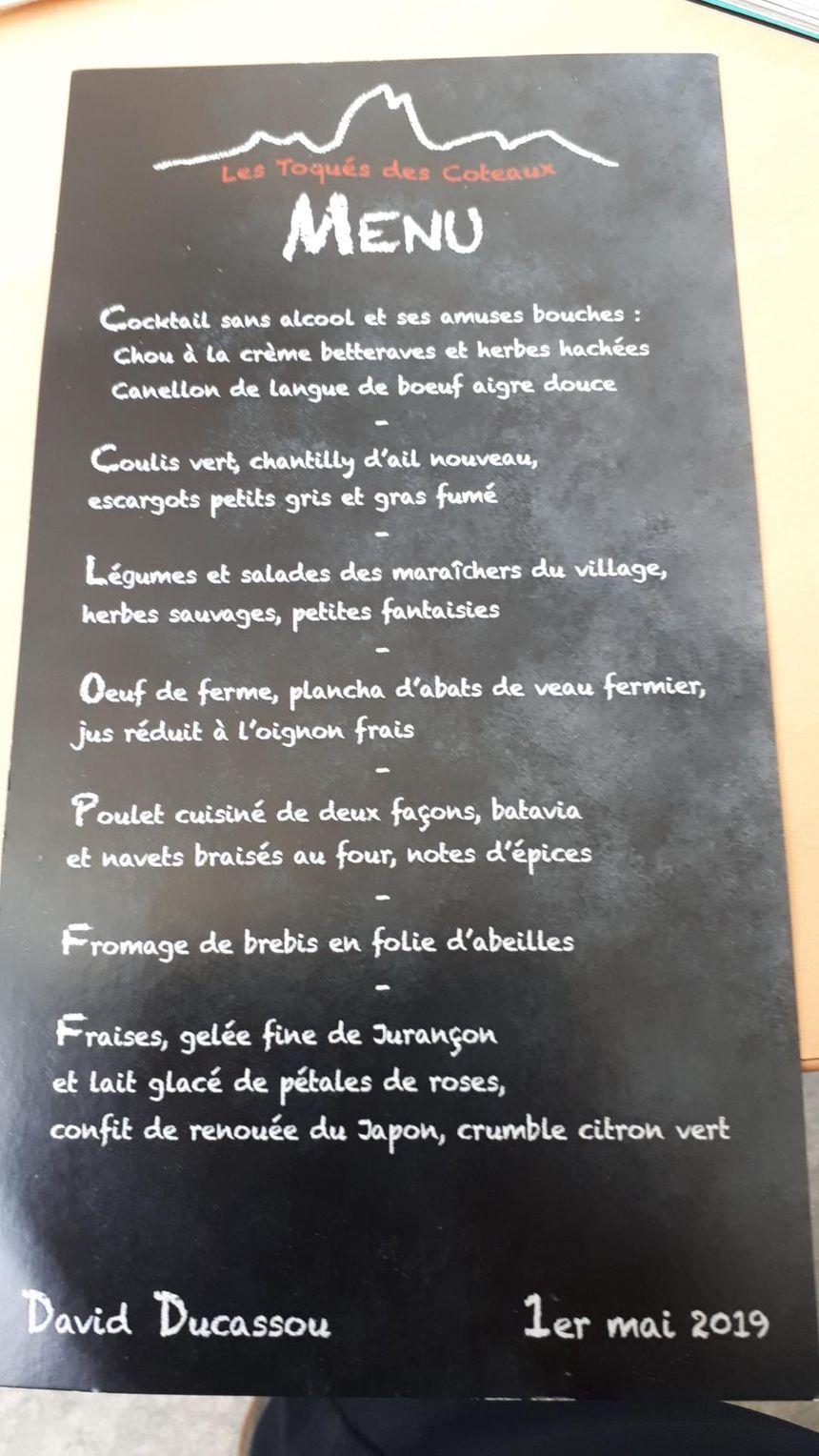 Le menu de ce repas du premier mai à Saint Faust