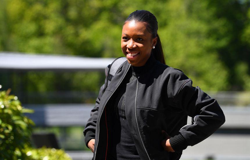 Grace Geyoro à son arrivée à Clairefontaine le 13 mai dernier.