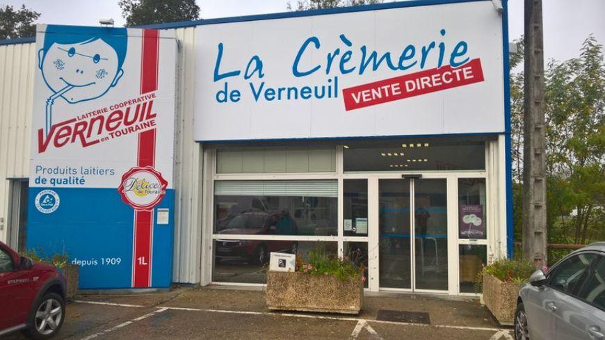 La boutique à l'entrée de la laiterie de Verneuil-sur-Indre