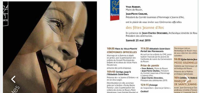 Présentation des Fêtes de Rouen avec affiche