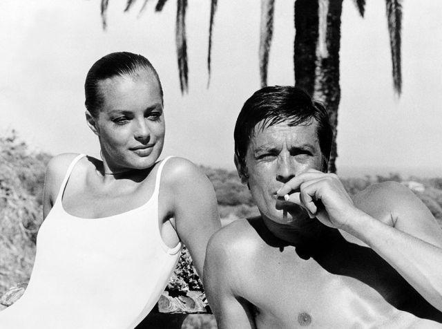 """Septembre 1968 : Alain Delon et Romy Schneider pendant le tournage de """"La Piscine"""""""