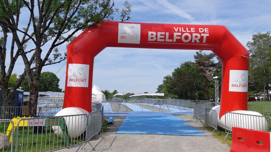 Tout est déjà prêt pour le Triathlon de Belfort, qui a lieu les 25 et 26 mai.