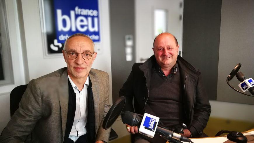 Thierry Bontemps (à d.) et Claude Bourrelly (à d.).